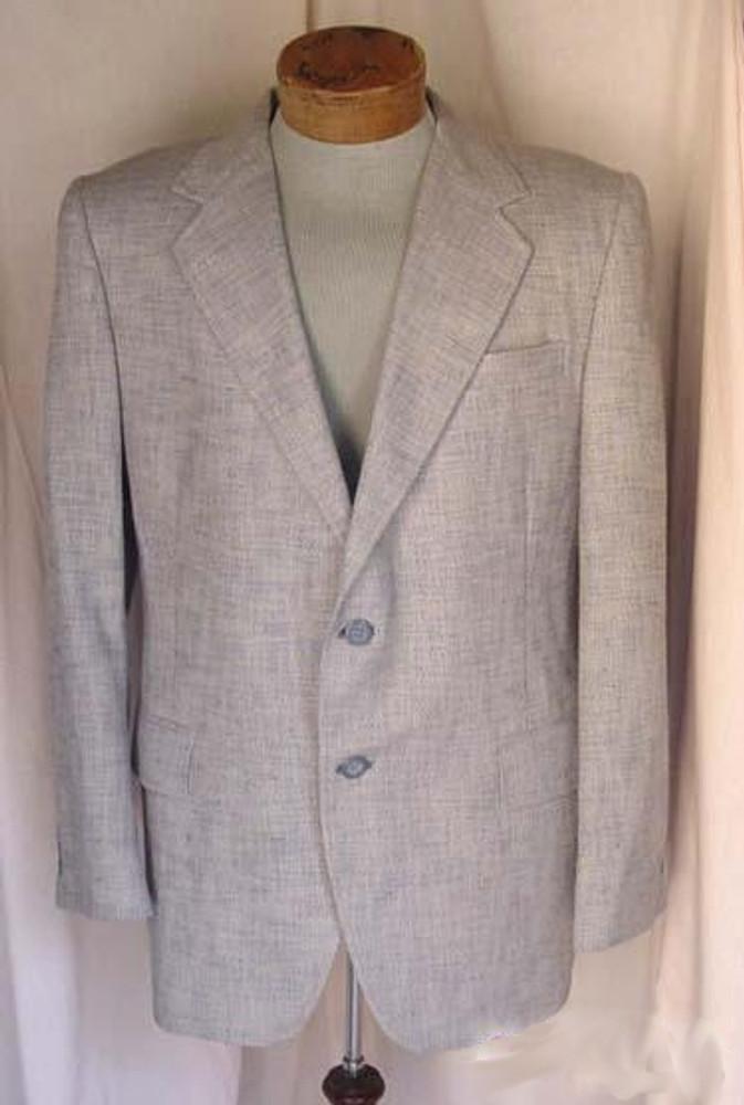 Vintage Beige & Blue Tweed Jacket