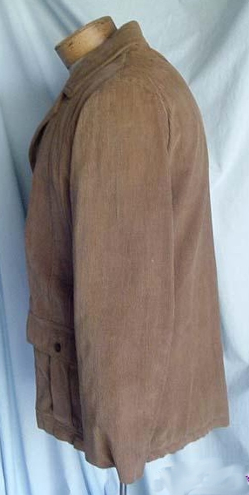 Mens Camel Corduroy Pleated Jacket