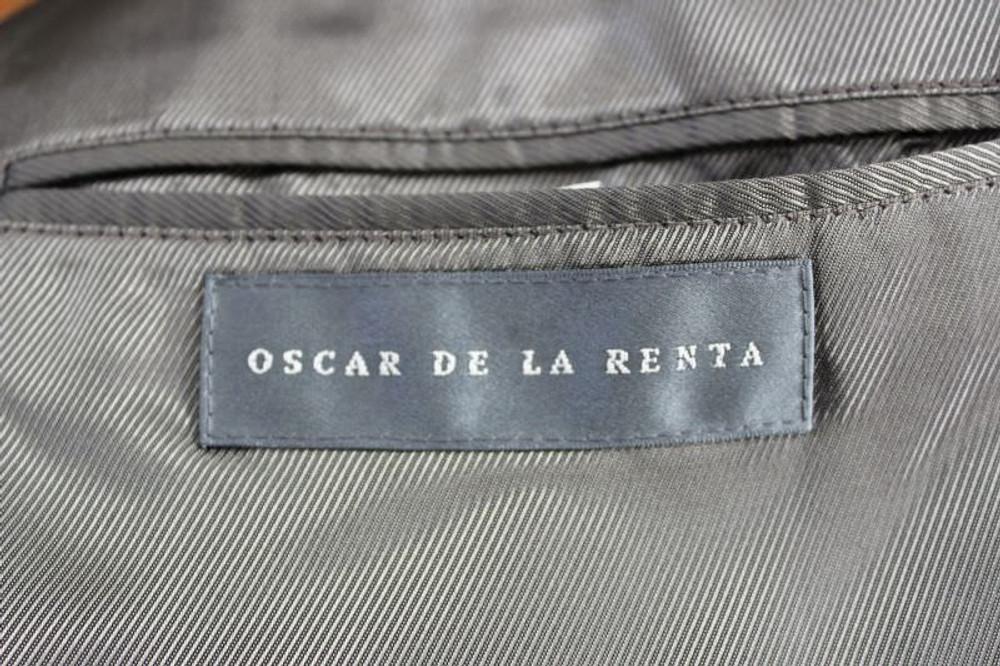 Oscar de la Renta Taupe Cashmere Blazer