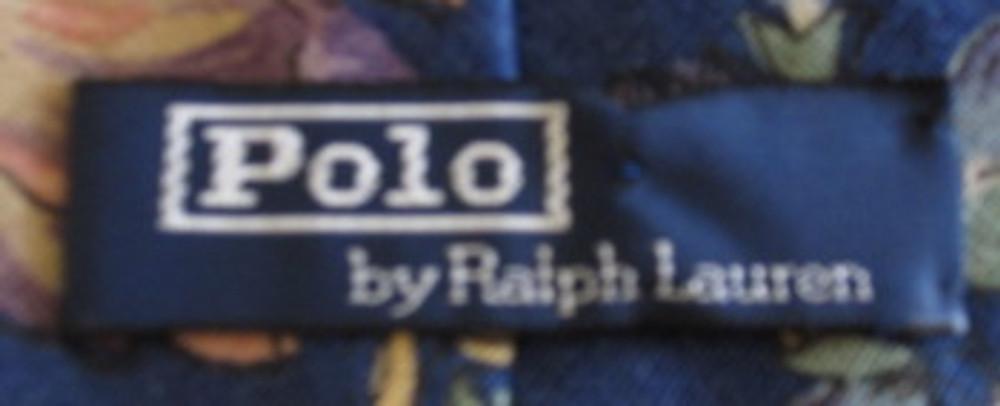 Ralph Lauren blue linen floral tie
