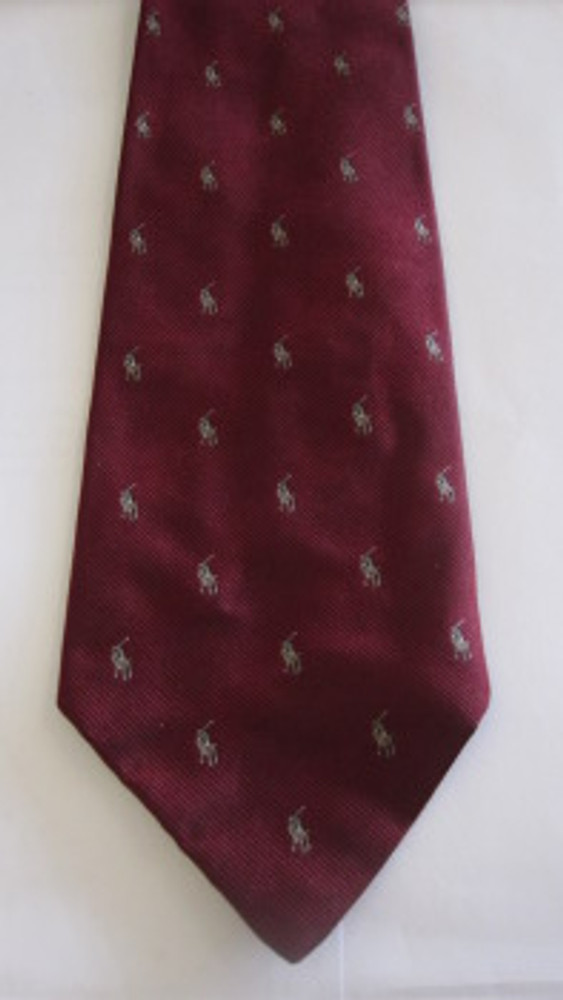 Ralph Lauren maroon logo tie