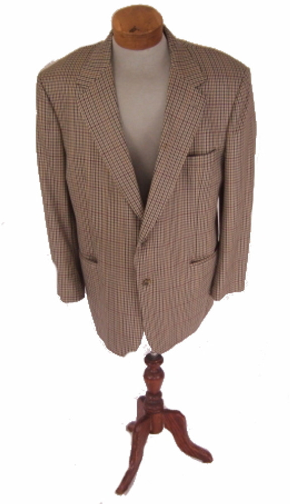 Brooks Brothers Tan Checkered Blazer