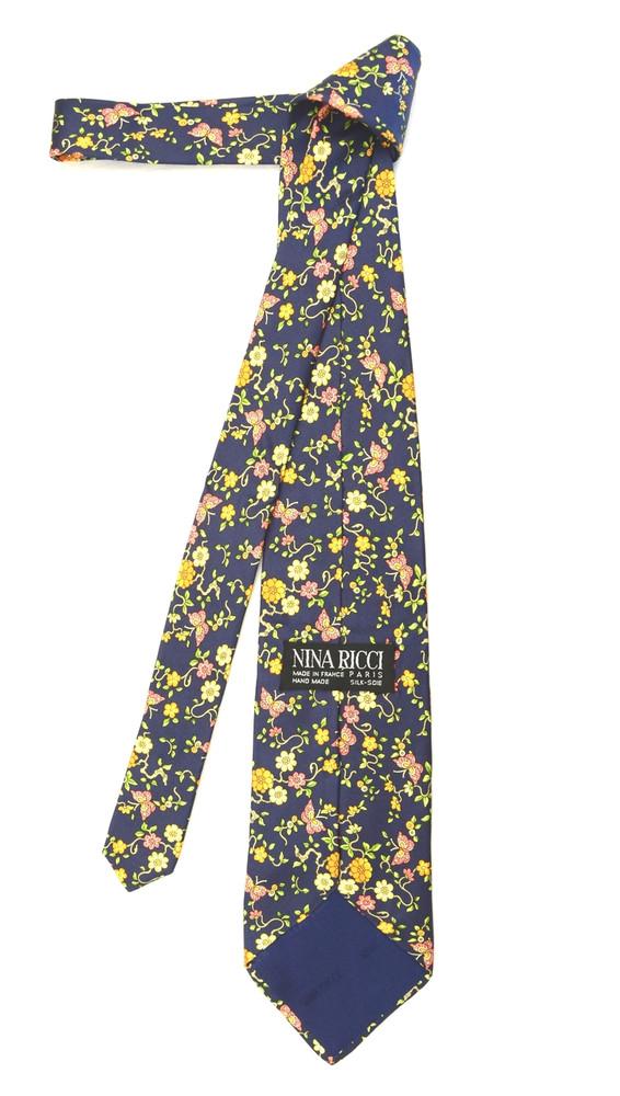 Nina Ricci Navy Fun Butterfly Tie