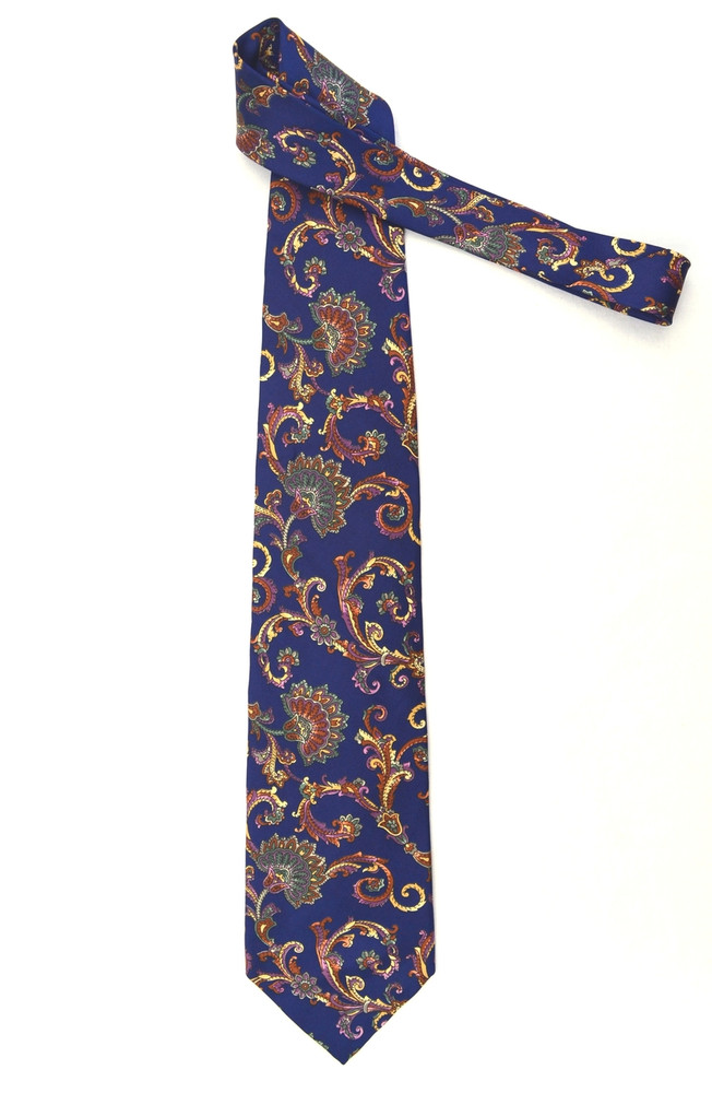 Christian Dior Paisley Patterned Silk Tie