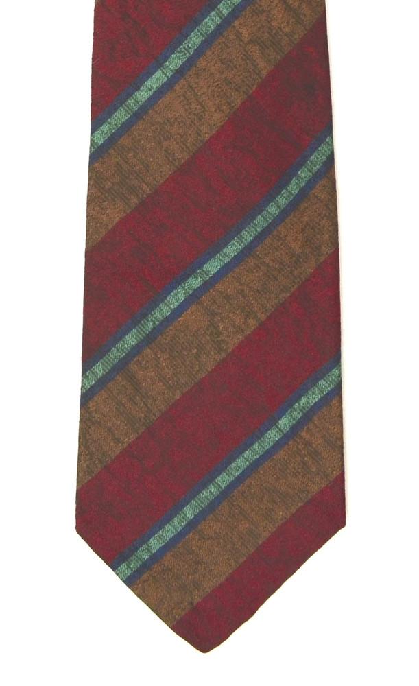 Vintage Cacharel Textured Stripes Silk Tie