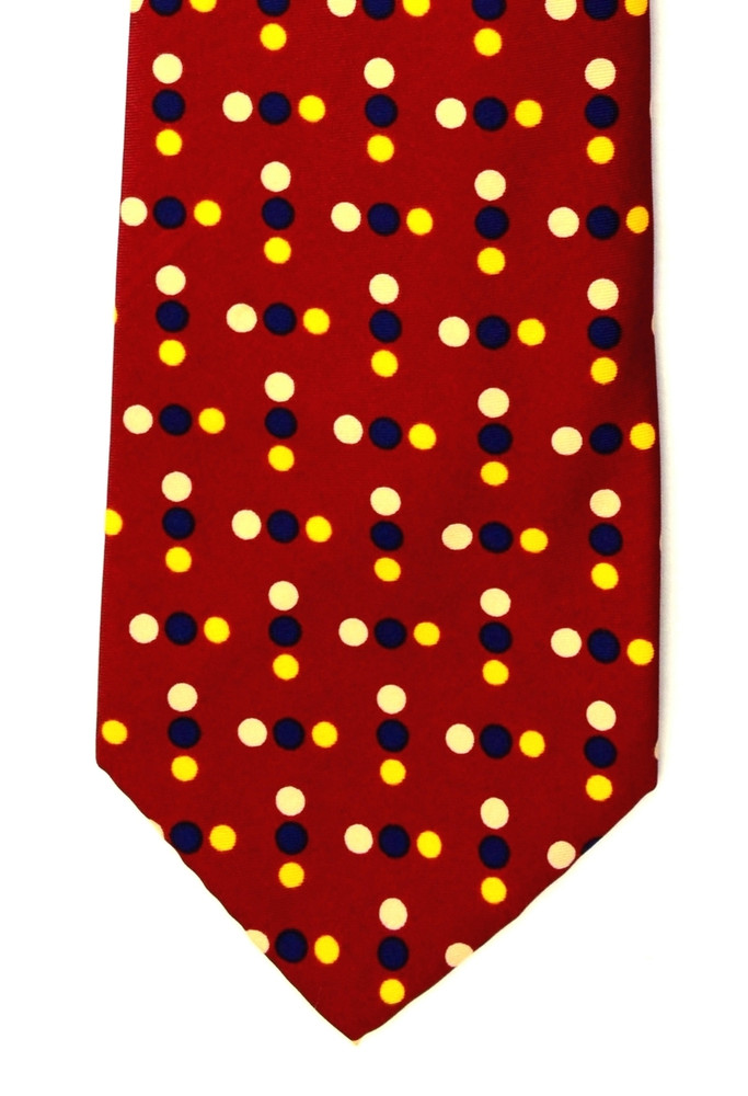 Vintage Christian Dior Super Wide Retro Dot Tie