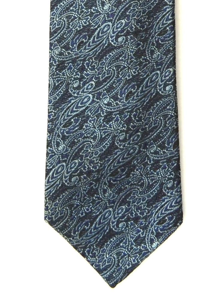Vintage Rene' Classic Paisley Knit Brocade Skinny Tie