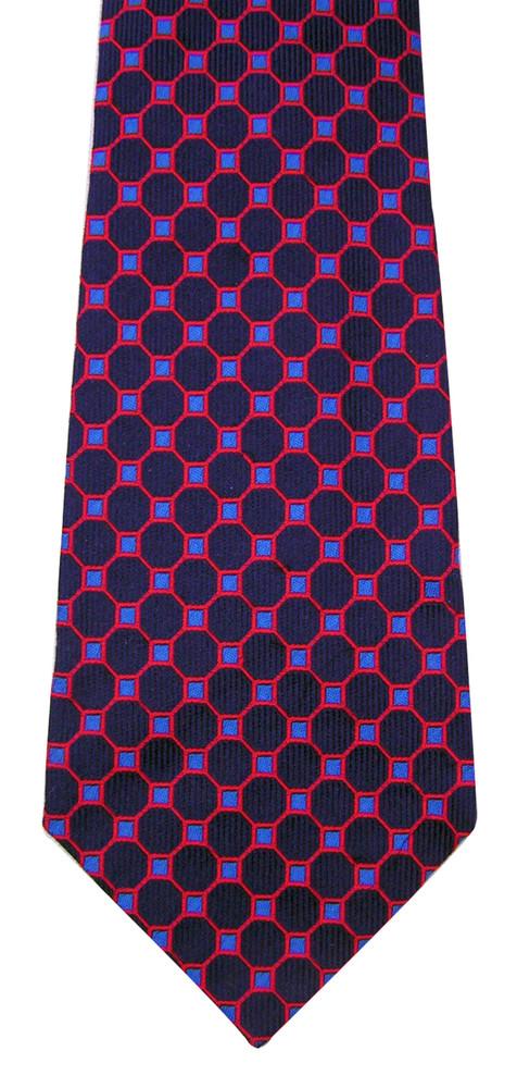 Turnbull & Asser Navy Silk Honeycomb Tie