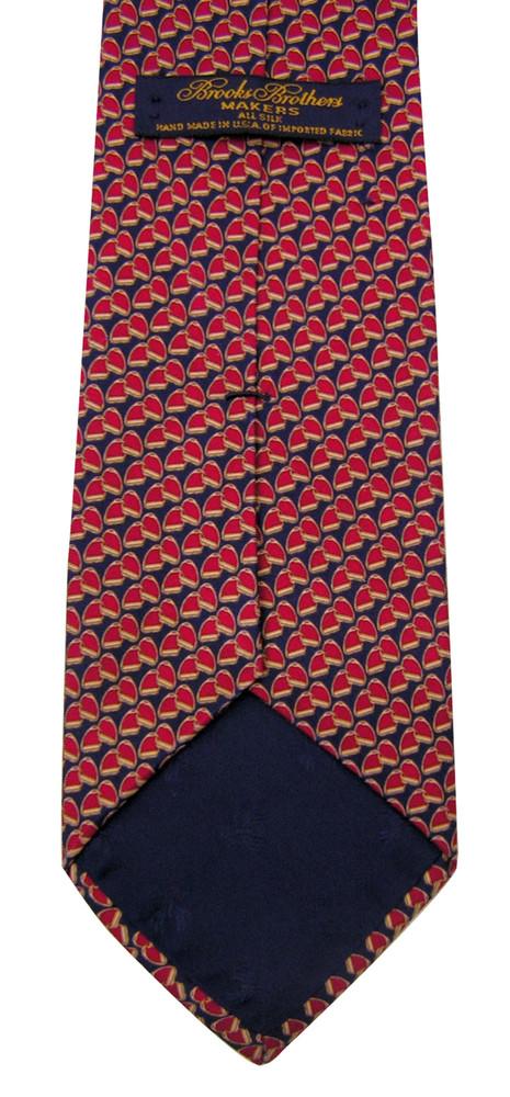Brooks Brothers Red & Navy Silk Stirrup Tie