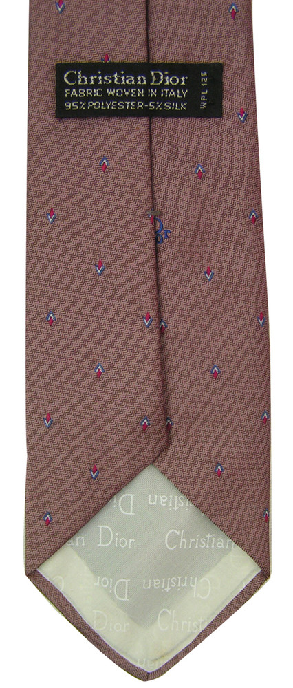 Christian Dior Retro Skinny Tie with Logo Tip