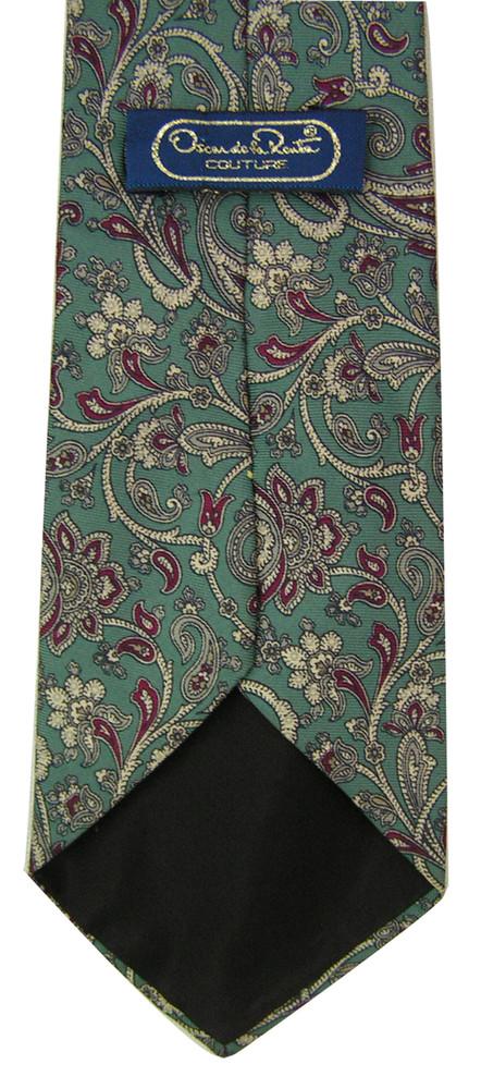 Oscar de la Renta Sage Paisley Tie