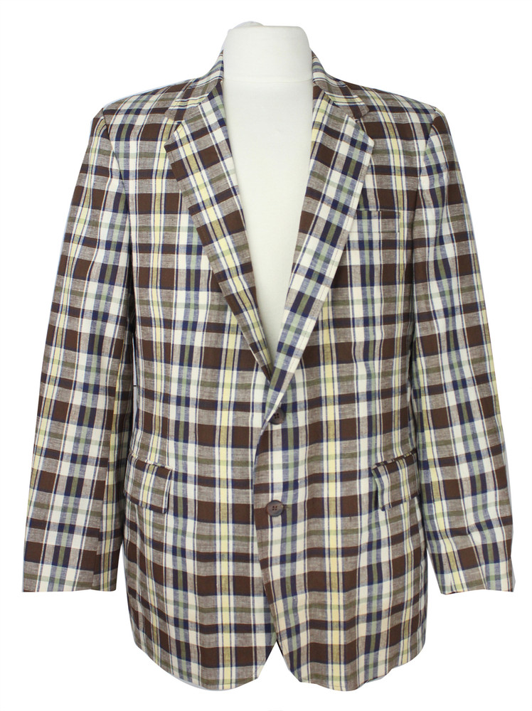 Vintage Haggar Brown Plaid Jacket