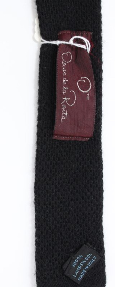 Vintage Oscar De La Renta Black Knit Tie