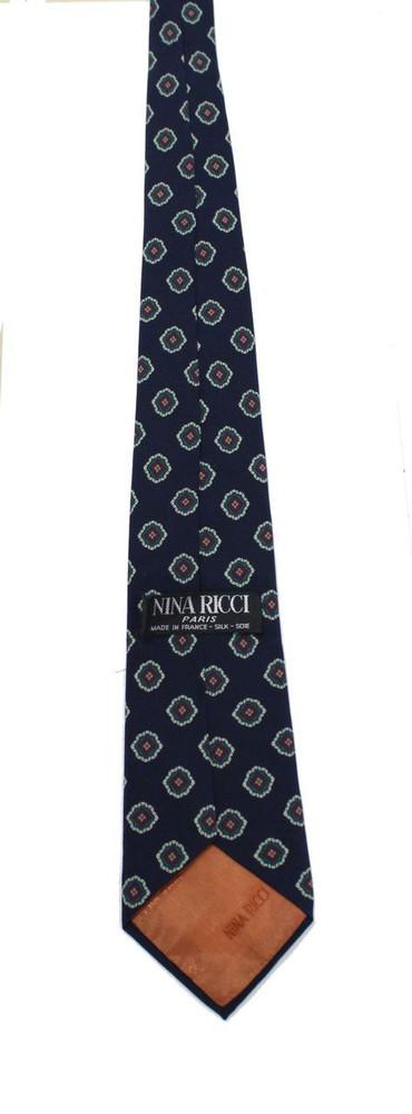 Nina Ricci Navy Blue Silk Tie