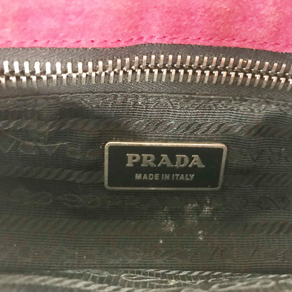Prada Pink Suede Shoulder Bag
