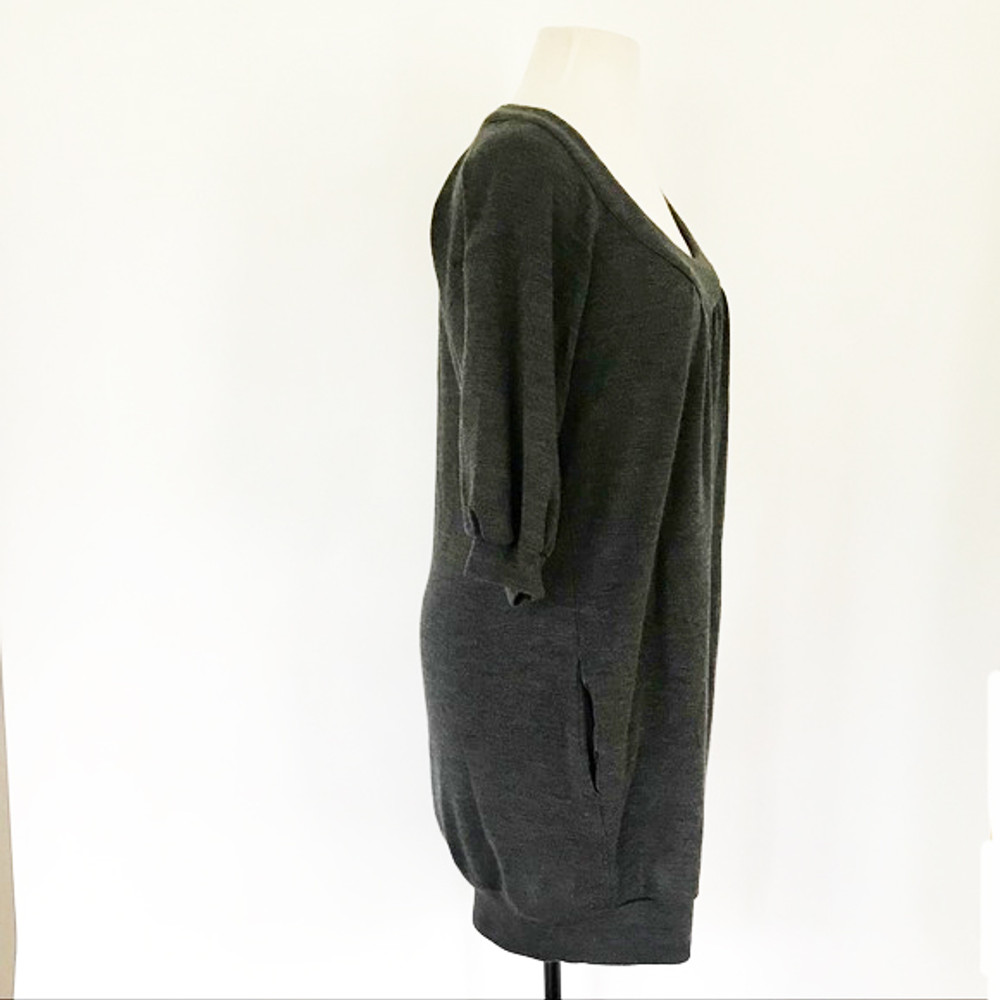 Vince Charcoal Gray Wool Dress with Pockets