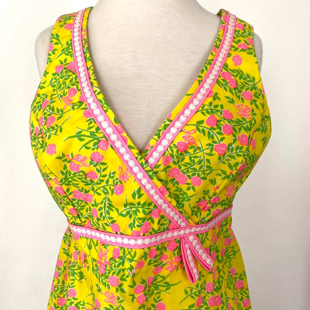 Vintage 1960s Lilly Pulitzer Yellow & Pink Dress
