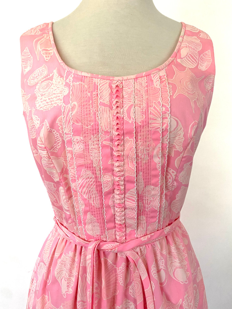 Vintage Lilly Pulitzer Pink Ruffle Dress