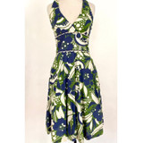 Lilly Pulitzer Green, Blue & White Halter Dress