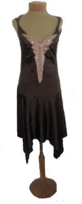 Rebecca Taylor Brown Silk Art Deco Butterfly Dress