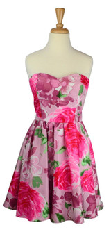Pretty In Pink Party Strapless Dress