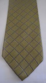 Calvin Klein silver & gold lattice tie