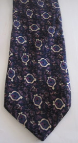 Christian Dior blue & purple busy tie
