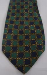 Fendi navy & green classic tie