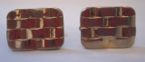 Gold Rectangular Woven Cufflinks