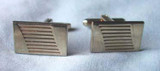 Vintage Gold Ridged Rectangular Cufflinks