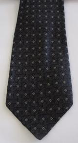 Joseph Aboud black & gray wool tie