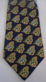 Leonard Blue Tie with Yellow Fish