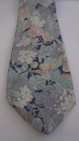 Liberty of London navy, light blue & pink cotton tie
