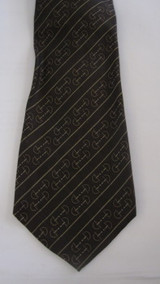 Martelli brown equestrial theme vintage tie