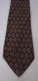 Nina Ricci Red & Gray Hexagon Tie