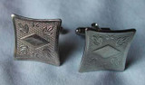 Silver Curved Square Cufflinks