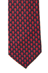 Stefano Ricci Navy & Red Trophy Tie