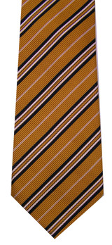 Charles Hill Mustard Yellow Stripe Silk Tie