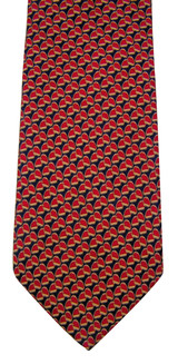 Brooks Brothers Red & Navy Silk Stirrup Tie