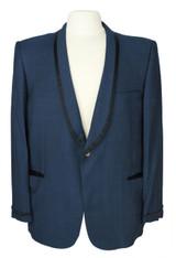 Vintage After Six by Rudofker Navy Blue Tuxedo Jacket