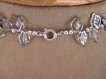 Vintage 1950s Silver Flower Necklace
