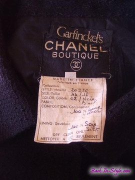 Vintage Chanel Black Tweed Skirt Suit