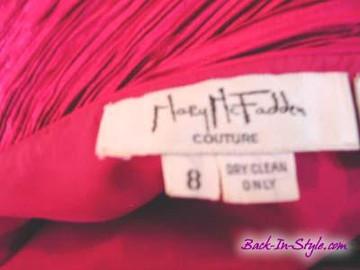 Vintage Mary McFadden Woven Fuchsia Dress