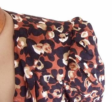 Vintage 1980s Flora Kung Animal Print Wrap Silk Blouse