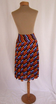 Vintage Missoni Silk Jersey Striped Pleated Skirt