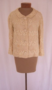 1960's Saks Cream Lace Jacket