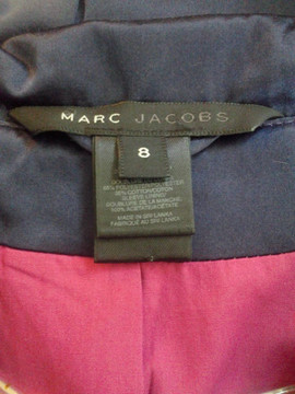 "Marc Jacobs ""Dutchess"" Indigo Satin Rose Jacket"