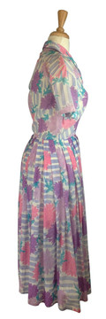 Vintage Emilio Pucci Purple & Pink Cotton Shirt Waist Dress 1