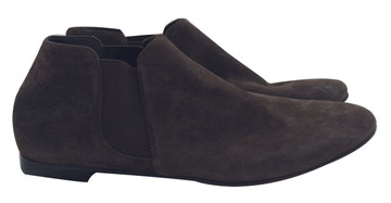 Barneys New York Co-Op Flat Suede Brown Booties