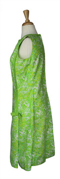 Vintage 1960s Lilly Pulitzer Green & White Dress